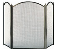 "26"" Dynasty 3-Fold Fire Screen, Antique"