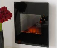 Alexis Black Wall Hanging Electric Fire